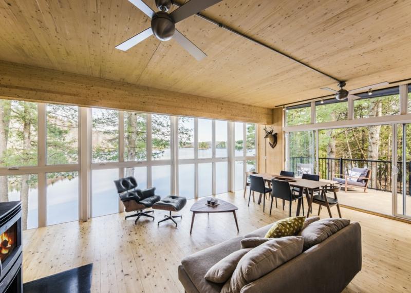 skandinavisches Design klassische Möbel Ledersofa Wohnzimmer