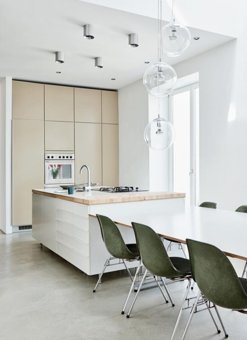 skandinavisches Design minimalistische Küche essbereich weiß