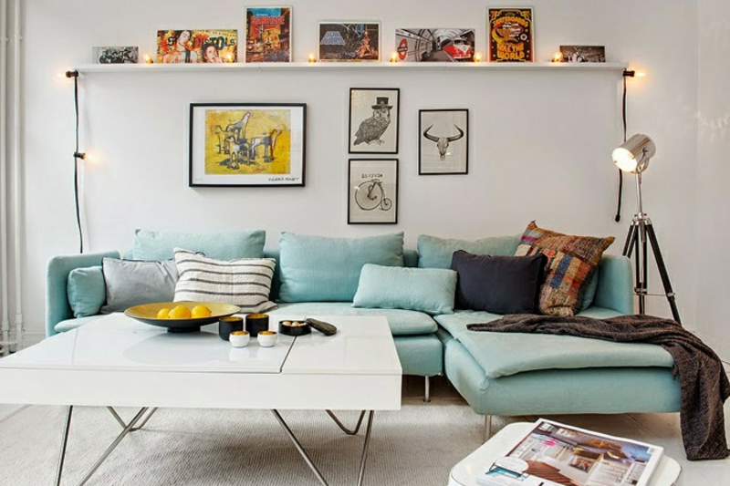 sofa kaufen skandinavisches sofa hellgrün wohnzimmer