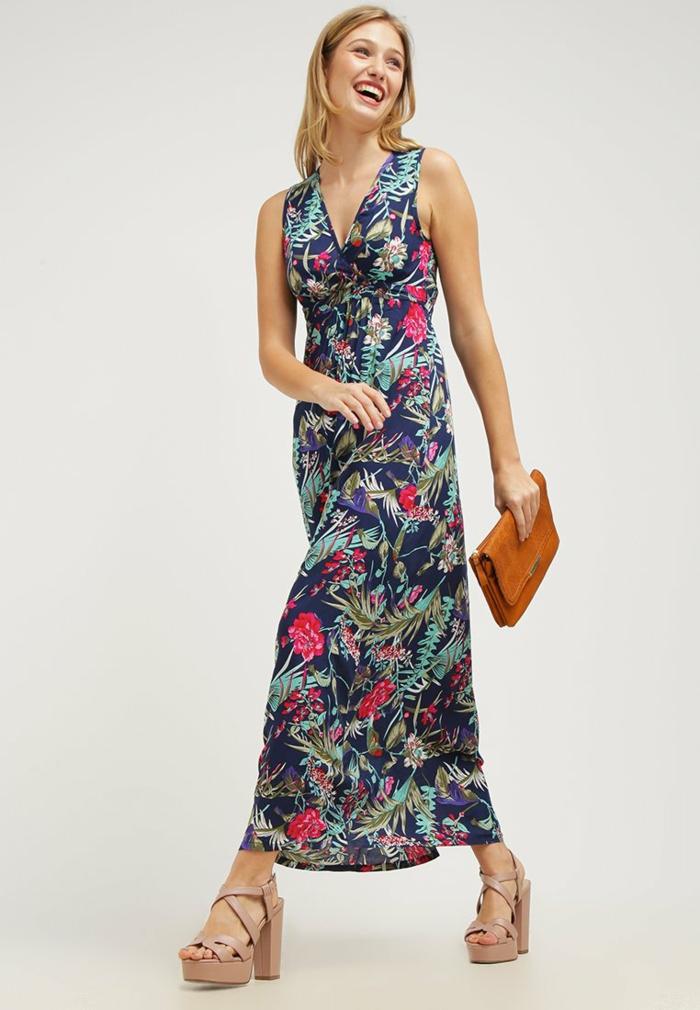 sommerkleider sommerkleid geblümt botanisch maxi kleid