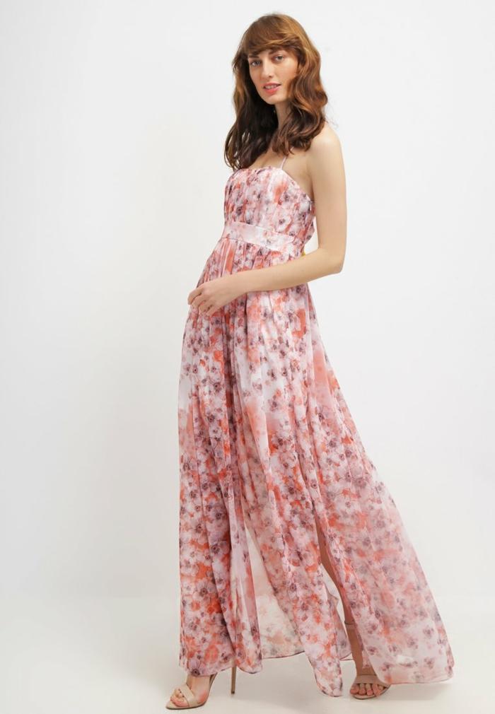 sommerkleider sommerkleid geblümt zart für den schwarz weiß rosa maxi rose
