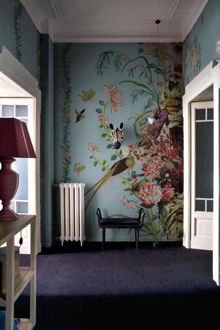 52 tapeten ideen mit floralem tapetenmuster stimmen sie froh. Black Bedroom Furniture Sets. Home Design Ideas