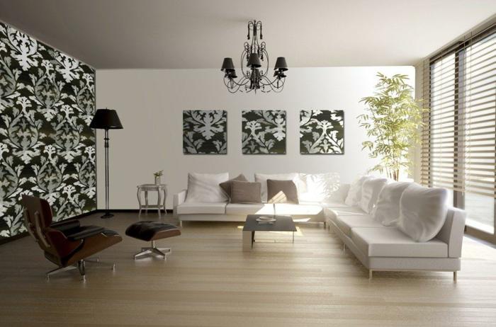 tapetenmuster wangestaltung wohnzimmer monochromie3