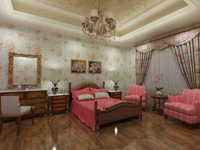 tapetenmuster wangestaltung wohnzimmer pracht