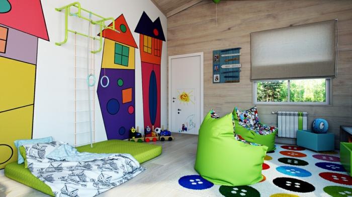 teppich kinderzimmer farbiges innendesign bunter kinderteppich