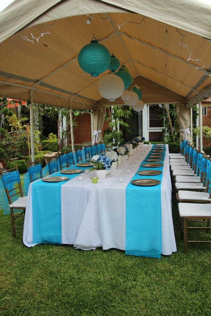 Tischdeko blau f r hochzeiten jubil en und andere for Festliche deko
