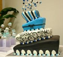 Tischdeko in Blau für Hochzeiten, Jubiläen und andere festliche Anlässe