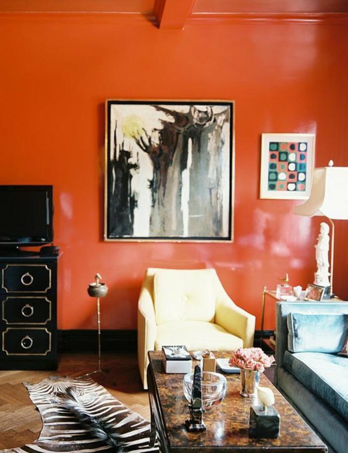Wandfarbe Ideen Wohnzimmer Wandfarben Ideen Fur Eine Dramatische Wohnzimmer  Gestaltung Design