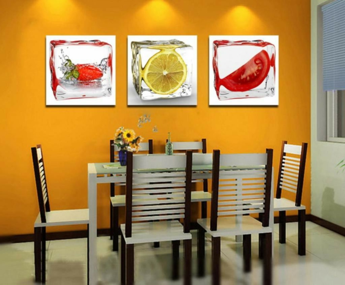 design : wohnzimmer braun orange ~ inspirierende bilder von ... - Orange Wand Wohnzimmer