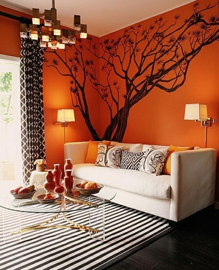 wohnzimmer gestalten orange ~ dekoration, inspiration innenraum ... - Wohnzimmer Gestalten Orange