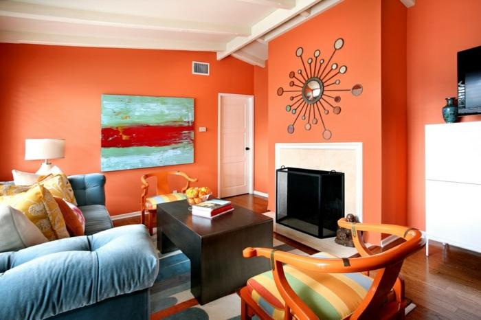 Design : Wohnzimmer Orange Schwarz ~ Inspirierende Bilder Von ... Wohnzimmer Orange Schwarz