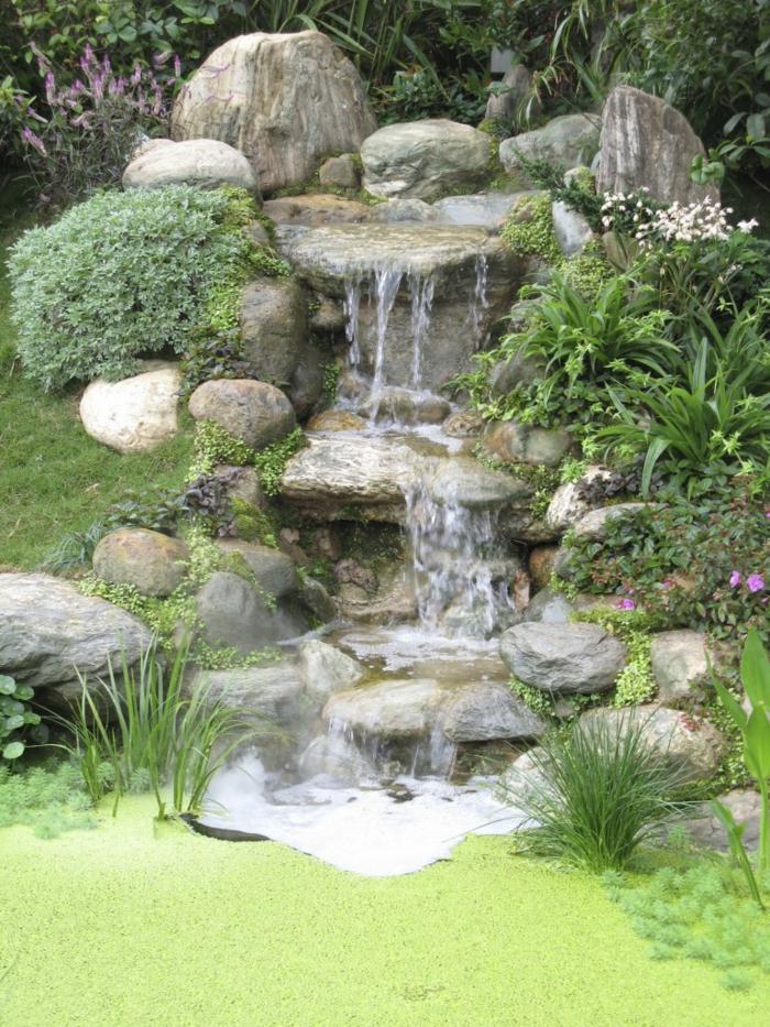 Wasserfall im garten selber bauen 99 ideen wie sie die harmonie der natur genie en - Garten wasserlauf ...