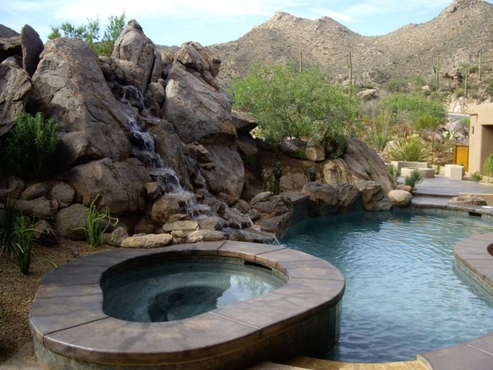 Mini Wasserfall Garten | Möbelideen