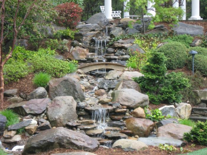 Wasserfall im Garten selber bauen und die Harmonie der ...