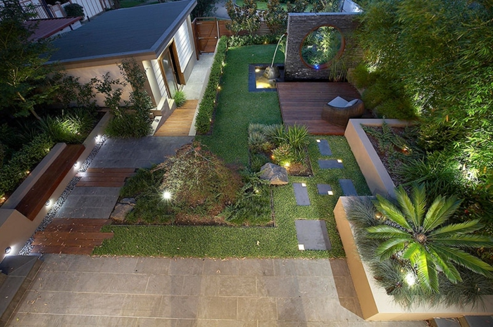 Genial Wasserfall Im Garten Außenbereich Gestalten Gartenleuchten