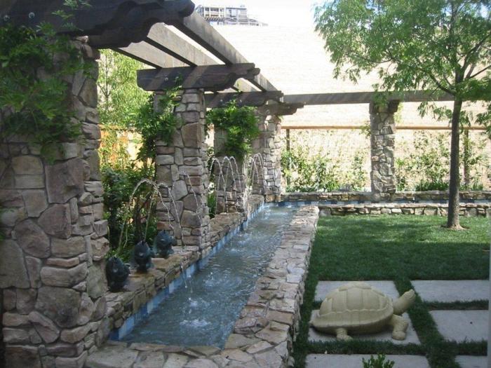 Wasserfall im garten selber bauen und die harmonie der - Garten wasserfall ...