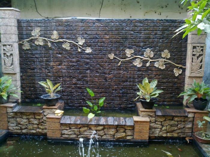Wand Mit Wasserfall Garten – localmenu.co