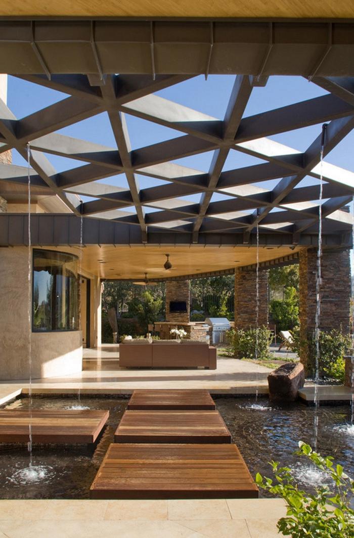 Wasserfall Im Garten Modern Wasserfall Im Garten Modern Garten ...