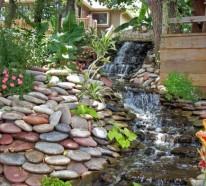 Wasserfall Im Garten U2013 Tolle Ideen, Wie Sie Durch Einen Selber Gebastelten  Wasserfall Oder Brunnen Den Garten Aufpeppen