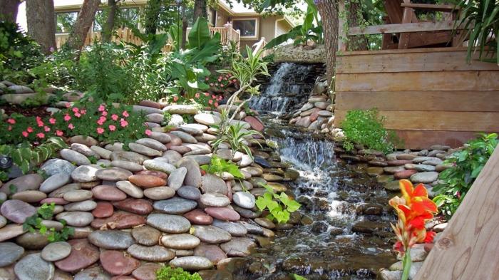 Wasserfall Im Garten Selber Bauen - 99 Ideen, Wie Sie Die Harmonie ... Besondere Ideen Gartengestaltung