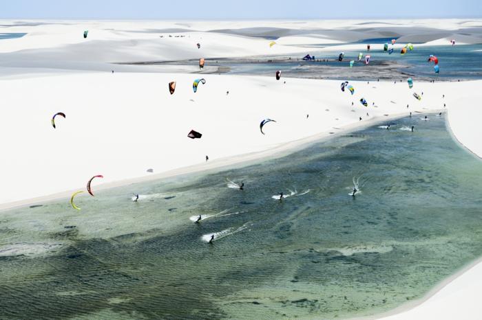 Lencois Maranhenses Naturpark lagunen kitesurfen