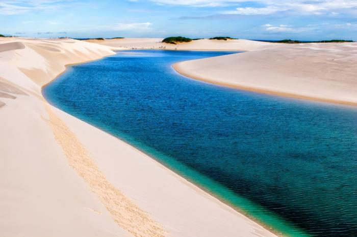 Lençois Maranhenses blaue lagunen