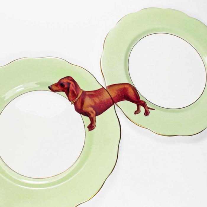 wohnidee tisch platten yvonne ellen hund lustig