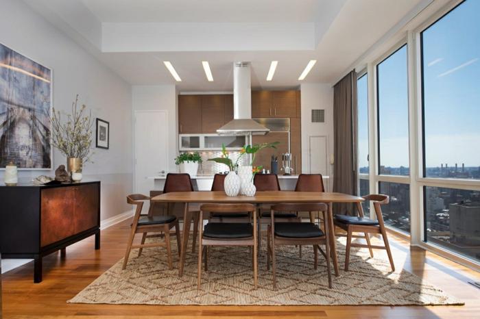wohnraumgestaltung farben esszimmer küche küchenschreänke esstischkommode