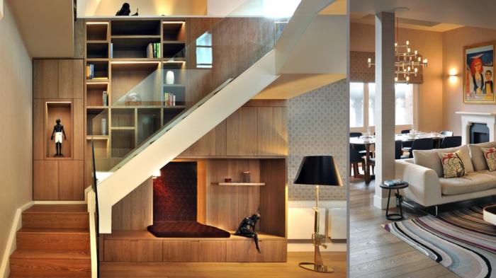 wohnraumgestaltung loft wohnung wohnbereich essbereich treppenhaus treppengeländer- s