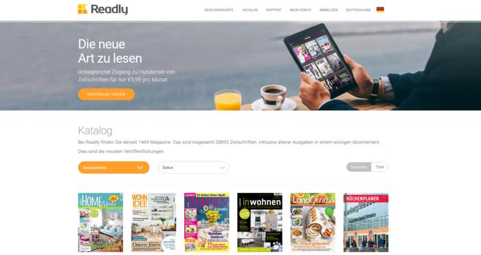 zeitschriften online readly magazine flatrate