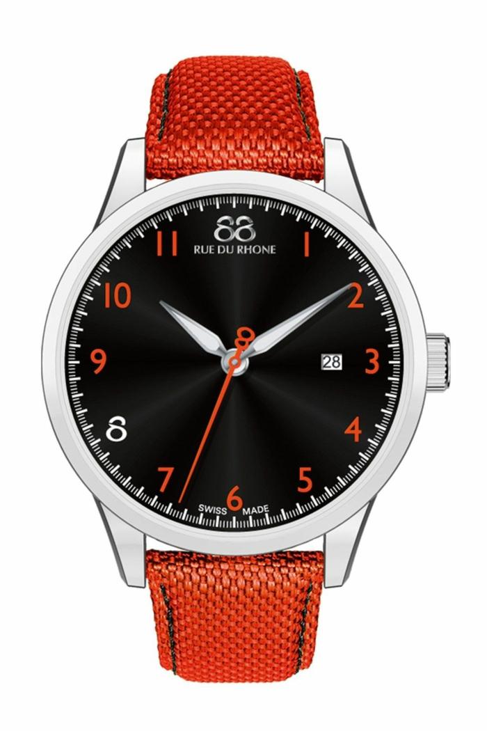 88 Rue Du Rhone Uhrenmarken Herren Arbanduhr rot