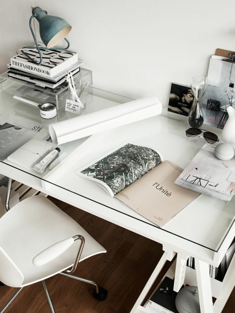 Büroeinrichtung Büromöbel Glasschreibtisch Home Office einrichten