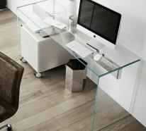 Glasschreibtisch – das schönste Accessoire für Ihre minimalistische Büroeinrichtung