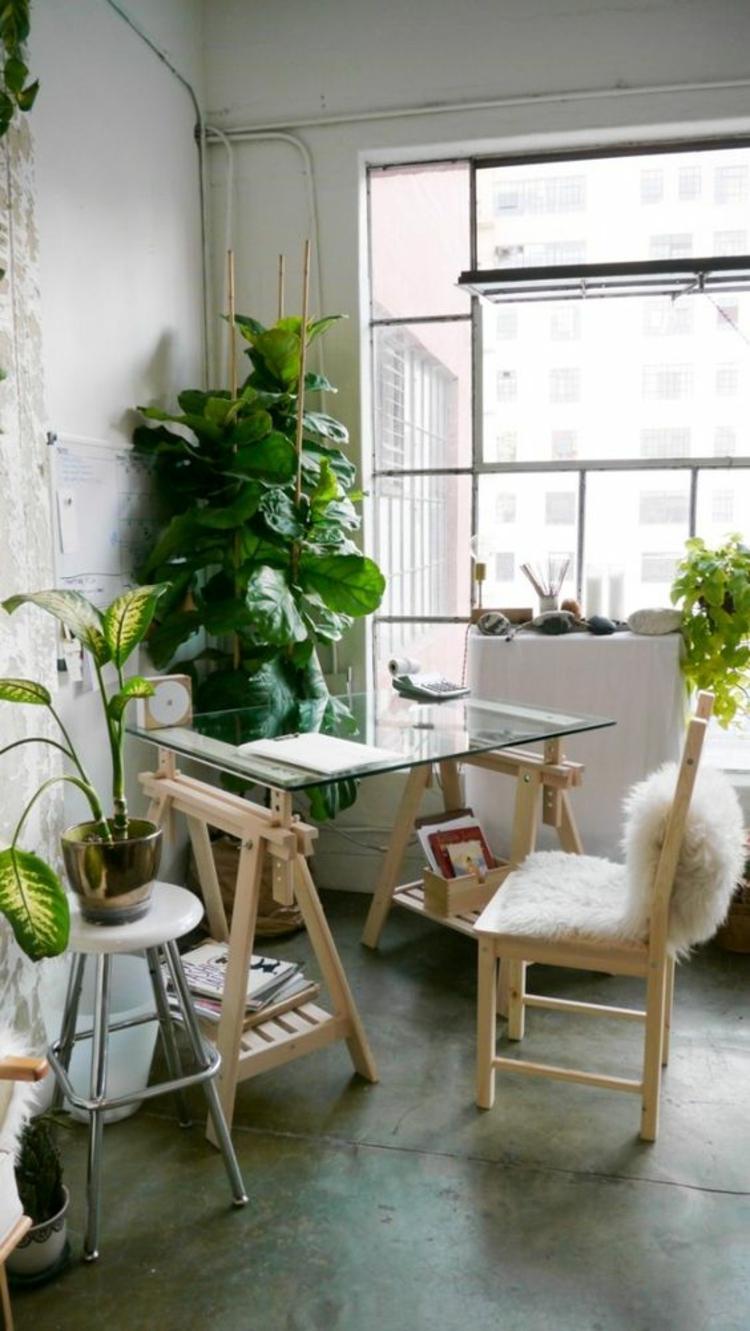Büroeinrichtung Glasschreibtisch Home Office einrichten