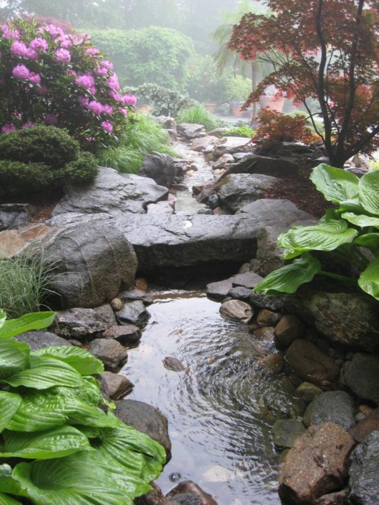 Bilder Gartenteiche Steine und Gartenpflanzen Inspiration