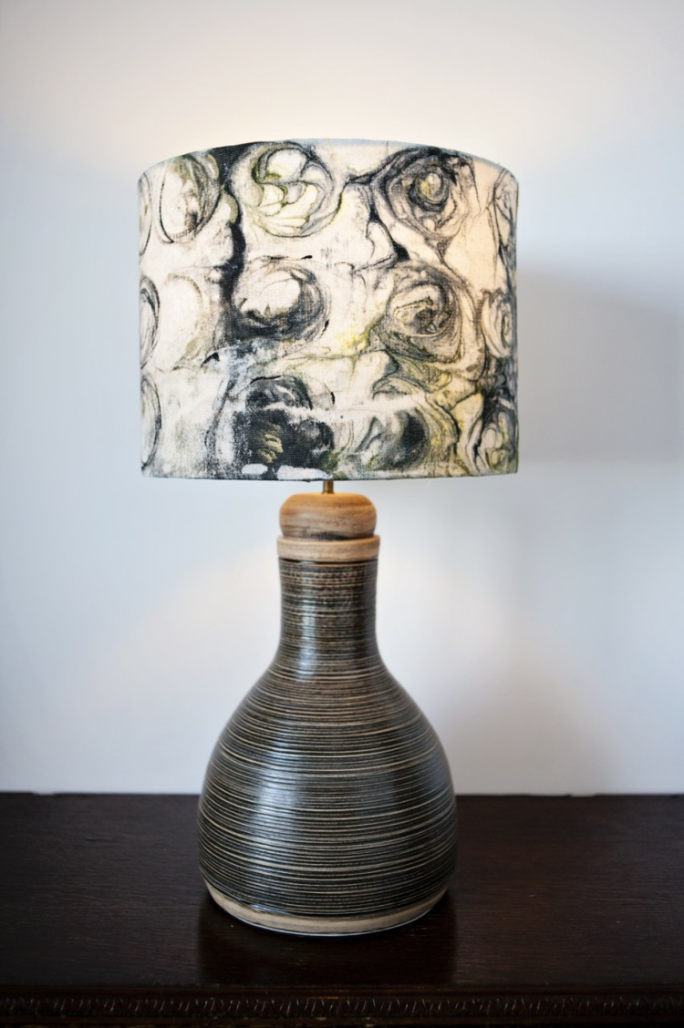 Designer Lampenschirme Marmoriertechnik Lampenfüße Ton