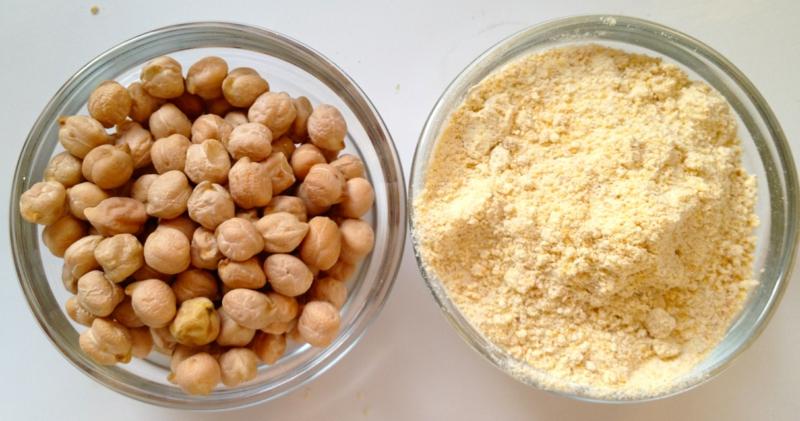 Eier Ersatz Mehl aus Kichererbsen gesunde Ernährung