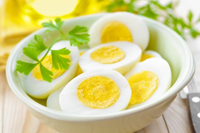 Eier Ersatz Vegan oder Allergie gekochte Eier