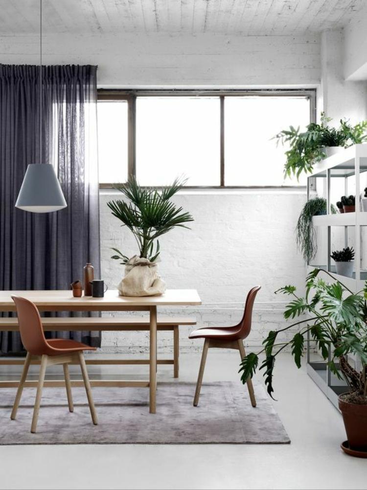 Einrichtungsbeispiele Esszimmer Ideen Esstisch Zimmerpflanzen
