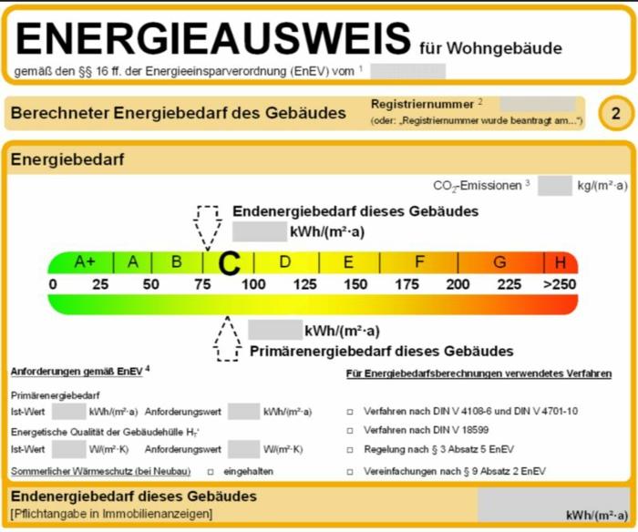 Energieversorger energieausweis
