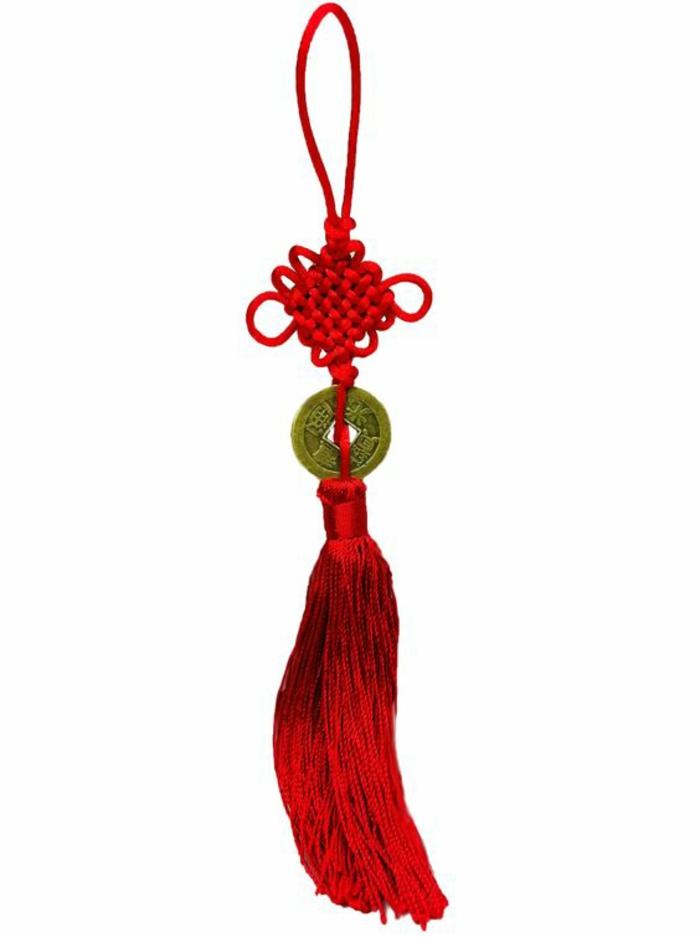 Feng Shui Bilder Wohnaccessoires positive Energie Feng Schui Knoten rot