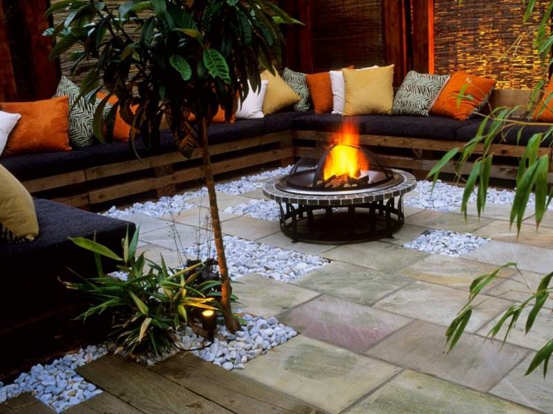 Feuerstelle Idee Garten