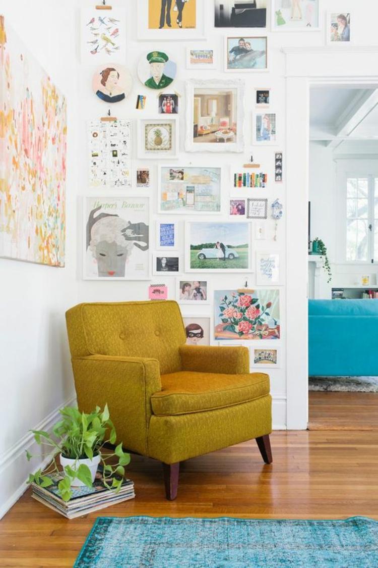 Fotowand Ideen Bilder Wand dekorieren Fotaowand basteln