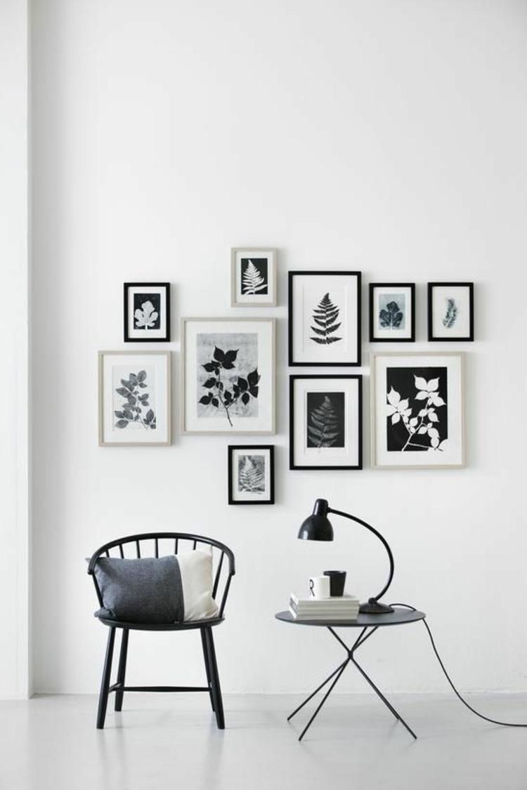 Fotowand Ideen Bilderleisten gemütliche Leseecke gestalten Wanddeko