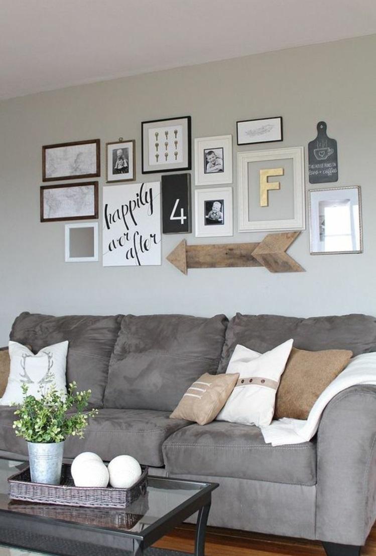 Fotowand Ideen Fotocollage Selber Machen Wohnzimmer Wanddeko