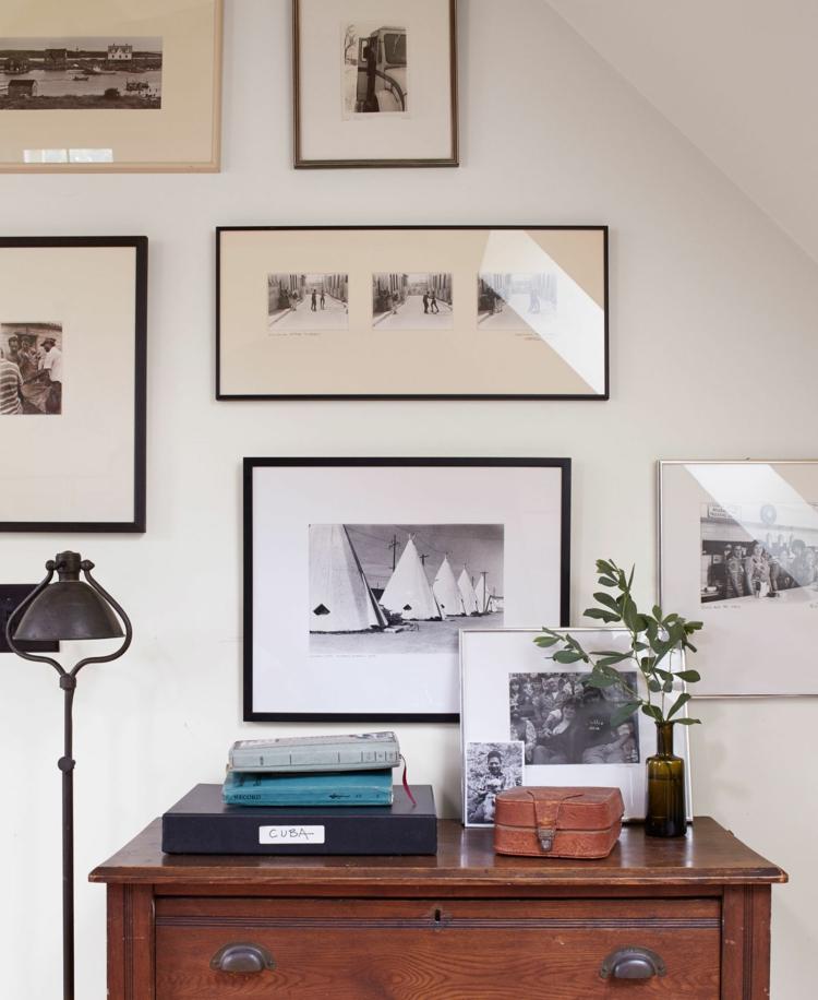 Fotowand Ideen klassische Einrichtung Wohnzimmer Wand