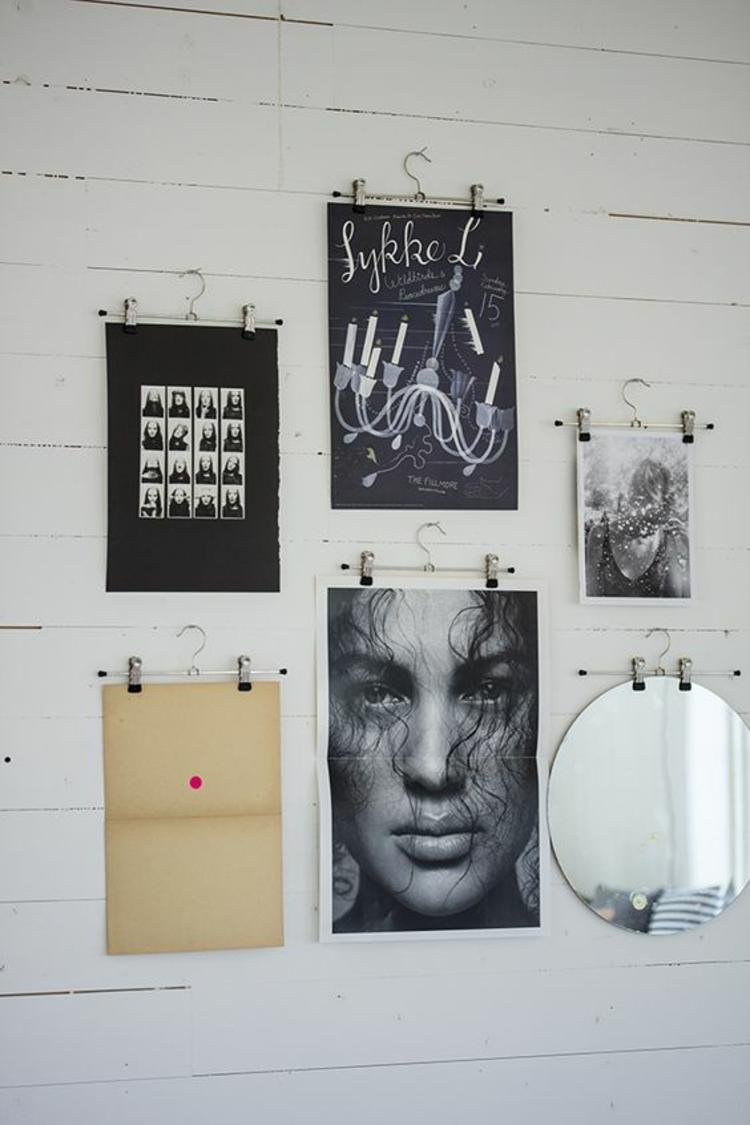 Fotowand Ideen schwarz weiß Fotos Wand dekorieren