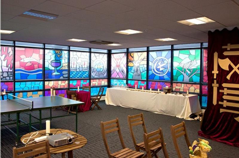 Game of Thrones Buntglasfenster Fensterfolie Konferenzsaal