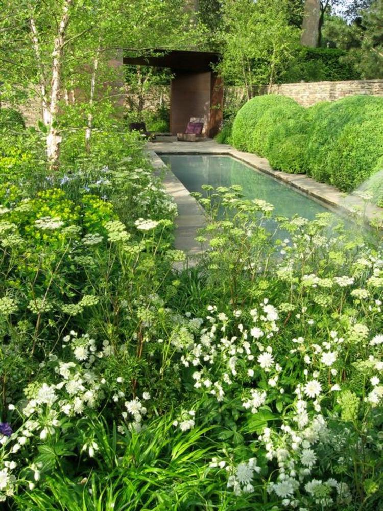 Garten Teich Bilder japanischer Garten Ideen Teich länglich