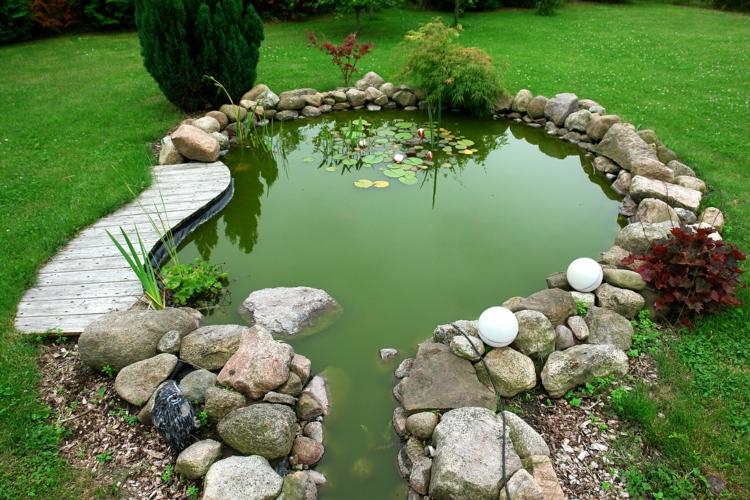gartenteich bilder japanischer garten ideen wasserpflanzen teich - Gartenteich Ideen